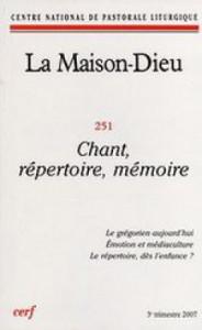 Couverture de La Maison-Dieu n°251, Editions du Cerf.
