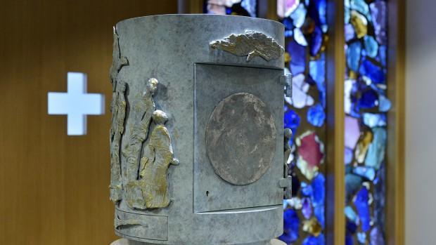 12 septembre 2015 : Tabernacle de la cathédrale Notre-Dame de Créteil (94), France.
