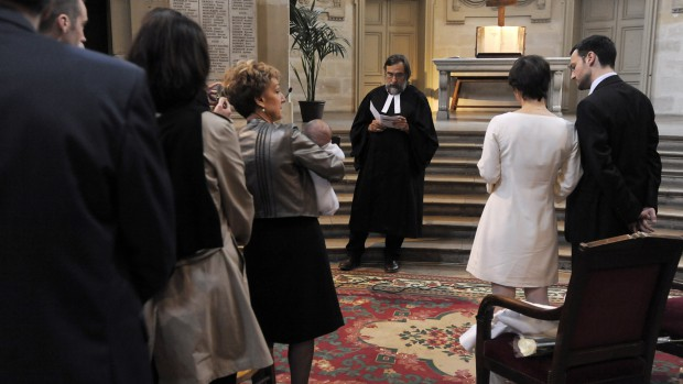 4 avril 2009: Mariage protestant célébré par le pasteur Vincent HUBAC, Temple du Marais, Paris (75), France.