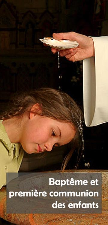 Baptême d'enfant (catholicisme) - geste du baptême.