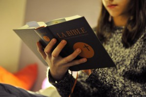 January 28, 2014 : Teenager reading the Bible, France.