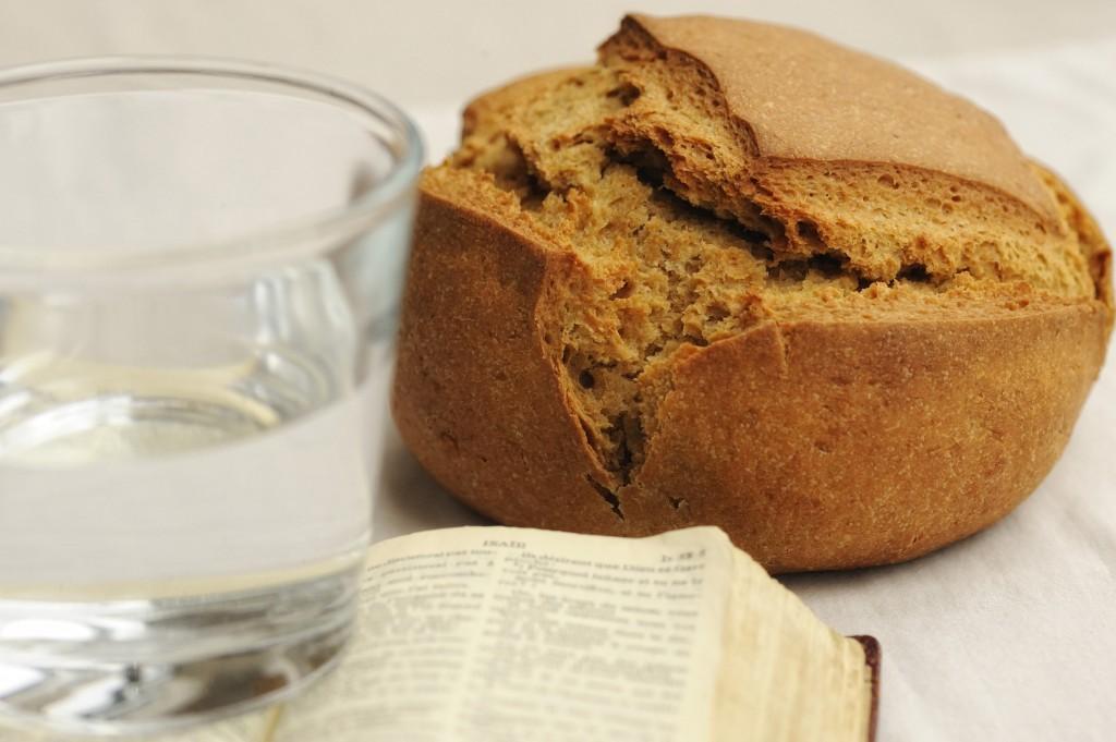 carême, pain et eau
