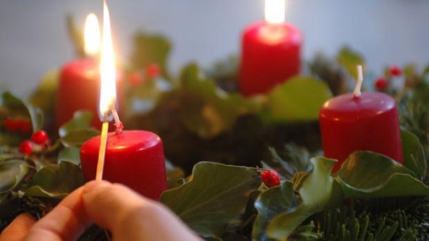 Décembre 2006: Troisième dimanche de l'avent, couronne de l'avent.