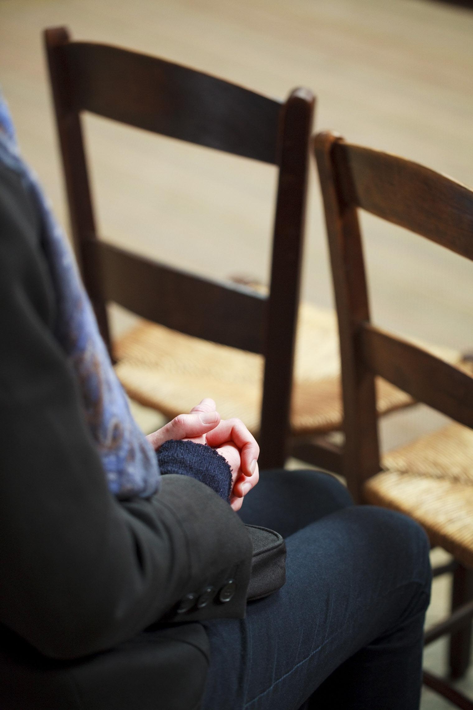 prière, chaise