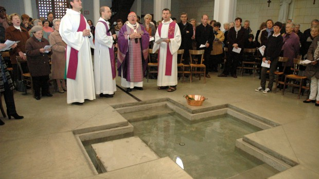 Baptistère de l'église Notre-Dame des Anges à Bordeaux (33)