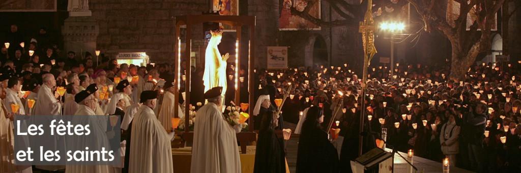 10 février 2008: Procession mariale lors du 150eme anniversaire de la première apparition à Lourdes (65), France.