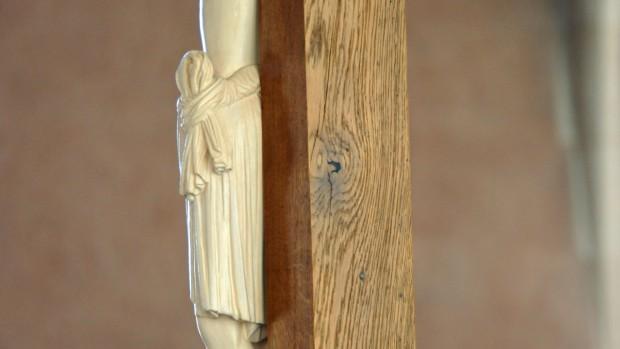 Crucifix de l'Abbaye bénédictine de Saint-Thierry (51)