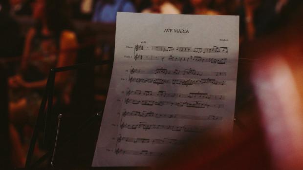 Partition du chant de l'Ave Maria.