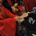 13 Août 2013 : Messe de l'onction des malades présidée par Mgr Jean-Luc BRUNIN, év. du Havre, lors du140ème Pèlerinage national. Basilique St Pie X. Lourdes (64) France.  August 13th, 2013 : National Pilgrimage in Lourdes (64) France.