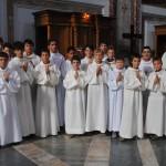 Groupe de servants d'autel
