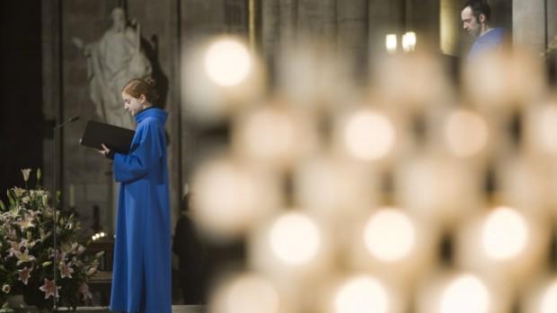 12 décembre 2009 : Psaume, lors de la messe célébrée à l'occasion du 10ème anniversaire de KTO, Cath. Notre Dame de Paris, Paris (75), France.  December 12th, 2009 : Tenth anniversary of KTO channel at Notre Dame de Paris, Paris (75), France.