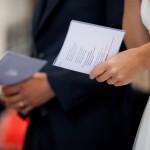 Juillet 2012 : Mariés lors de leur messe de mariage, France.