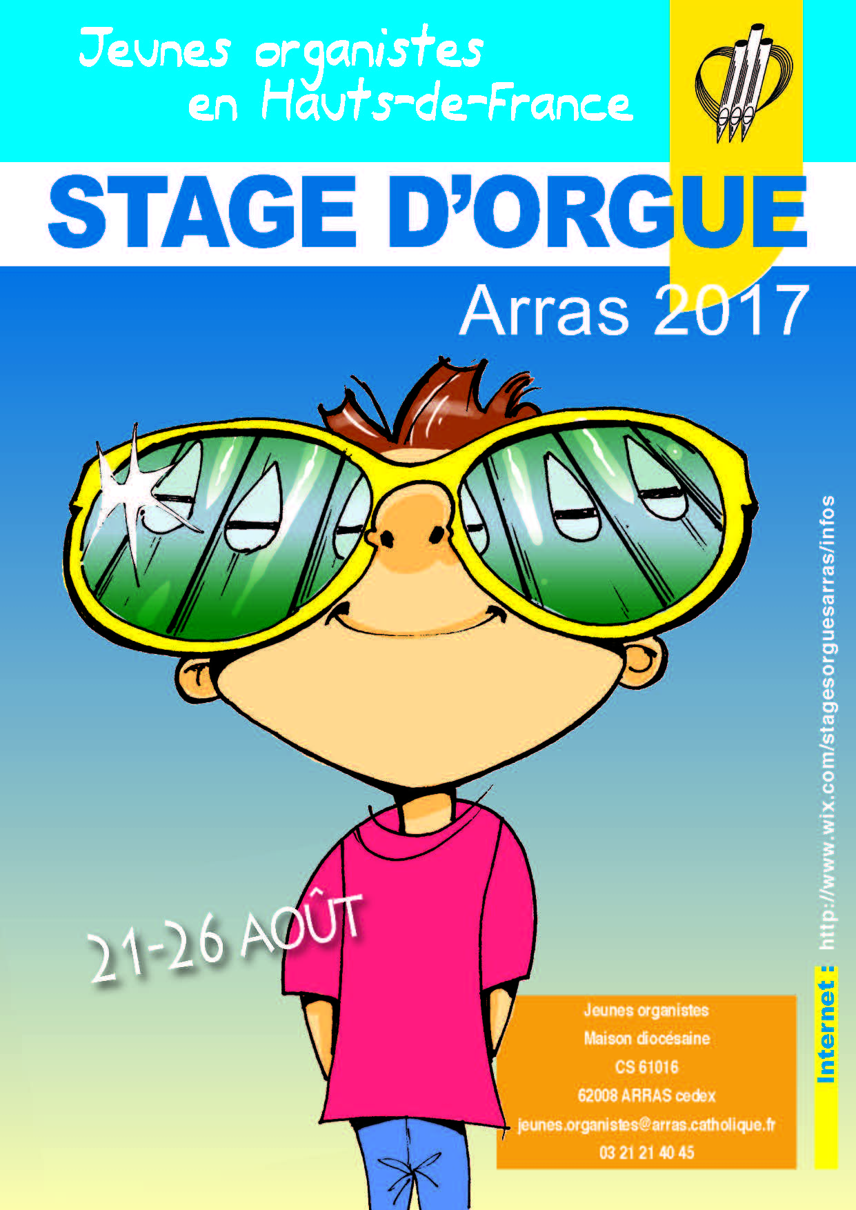 Affiche Stage 2017 Arras orgue