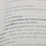 12 novembre 2013 : Le Notre Père modifié, dans la nouvelle traduction de la Bible, aux éditions MAME, Paris (75).