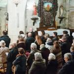 1er mars 2017: Assemblée lors de la messe des Cendres qui marque l'entrée en Carême. Paroisse Saint-Vincent, Le Mesnil-le-Roi (78) France.