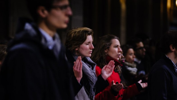19 novembre 2013 : Messe de rentrée des étudiants d'Ile-de-France à la cathédrale Notre-Dame, Paris (75), France.  November 19, 2013: Opening mass of the academic year in Notre Dame cath. Paris (75) France.