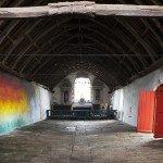 Flora Moscovici, La lumière vient du sol, chapelle de la Trinité, Bieuzy, L'art dans les chapelles 2016 © Laurent Grivet
