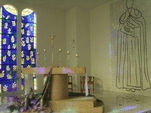 Chœur de la chapelle du Rosaire, Vence, réalisé par Matisse, 1950