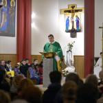 25 février 2017 : Mgr Michel AUPETIT, évêque de Nanterre, lors de la messe célébrée en l'église Notre Dame de Lourdes à Chaville (92), France.