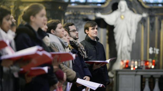 25 novembre 2017 : 2e édition d'Ecclesia Cantic, rassemblement national des étudiants et jeunes professionnels autour du chant liturgique. Eglise Saint Sulpice, Paris (75), France.