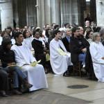 11 avril 2010 : Dimanche in albis pour les nouveaux baptisés adultes du diocèse de Paris. Egl. Saint Severin. Paris (75) France.
