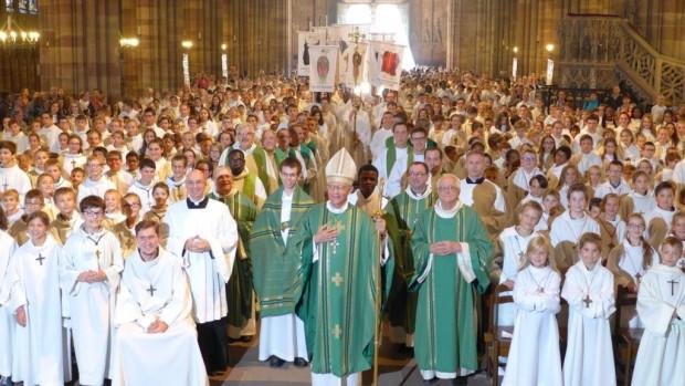 Rassemblement des servants d'autel du diocèse de Strasbourg au mois d'octobre 2018.
