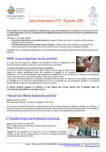 newsletter Servans d'autel
