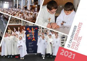 Couverture du calendrier des servants d'autel 2021.