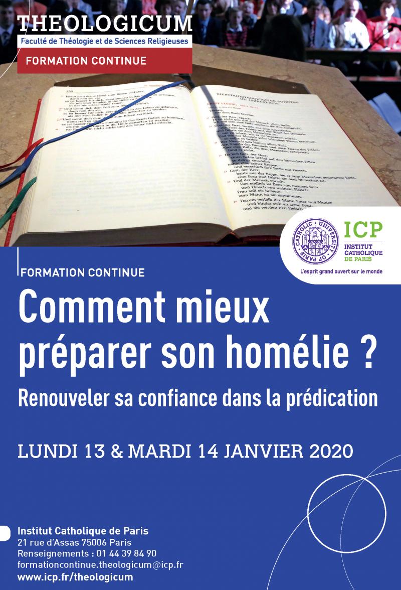 Formation du Théologicum sur l'homélie, Janvier 2020.