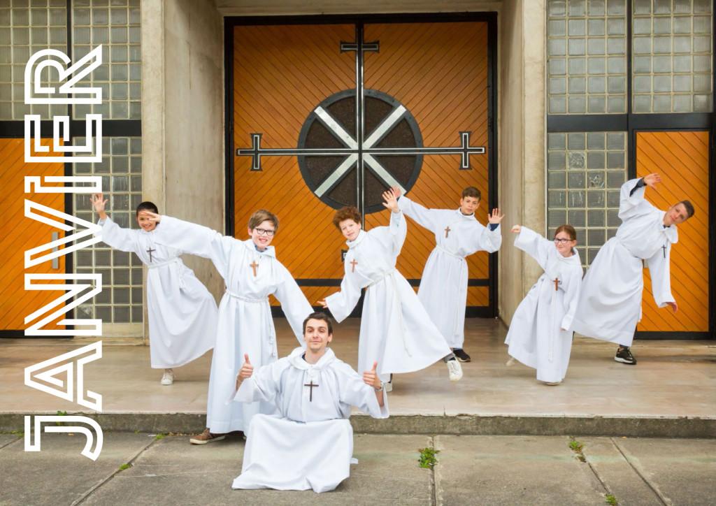 Calendrier des servants d'autel, photo pour Janvier 2020.