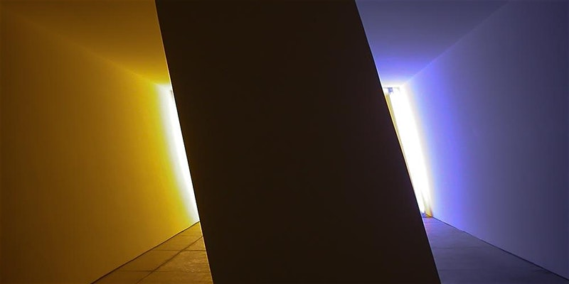 Dan Flavin, untitled (Marfa project), 1996. Permanent collection, the Chinati Foundation, Marfa, Texas.