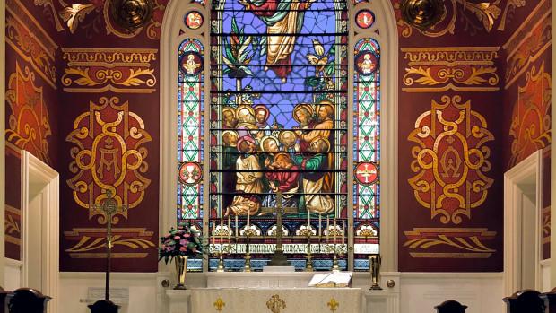Vitrail de l'Ascension du Seigneur.