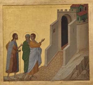 Les Pèlerins d'Emmaüs, Duccio di Buoninsegna.