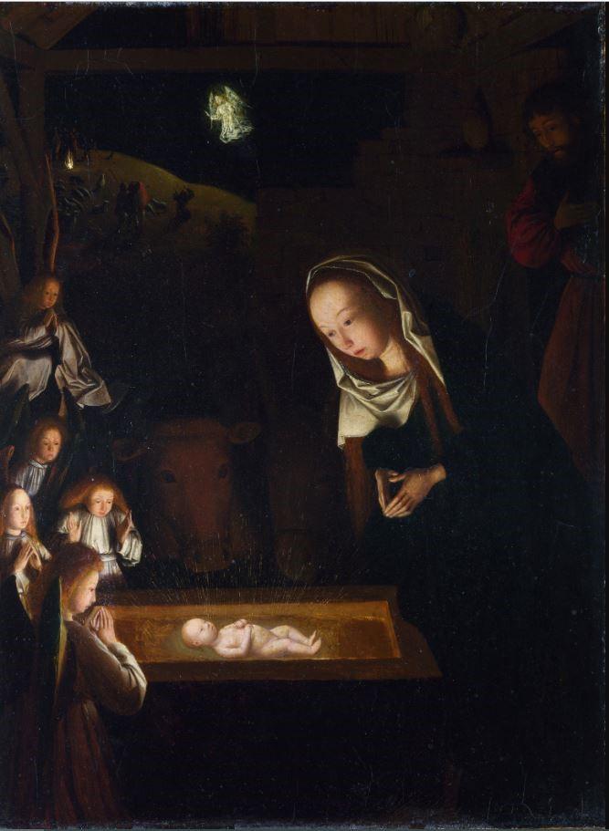GEERTGEN TOT SINT JANS, Nativité de nuit, huile sur panneau de chêne, 1480-1490, Londres National Gallery