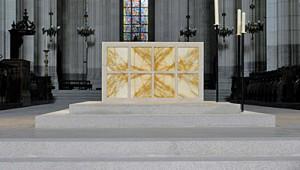 Vue du maître autel de la Cathédrale de Nantes