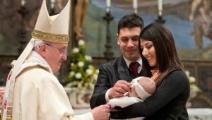 Pape François baptême