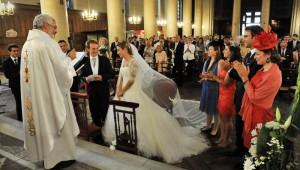 1er septembre 2012: Mariage de Sophie et Alexandre à l'égl. Saint Denys du Saint Sacrement, Paris (75), France.   September 1st, 2012: Marriage of Sophie and Alexandre in the church Saint Denys du Saint Sacrement, Paris (75), France.