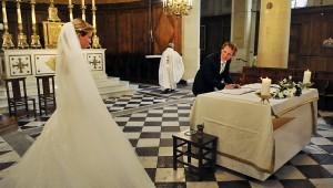 mariage, signature des registres