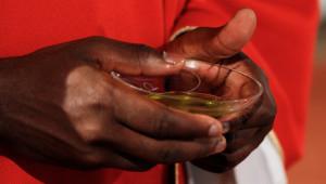 27 mai 2012 : Saint Chrême, messe de Pentecôte, l'Ile des Vannes, L'Ile Saint Denis (93), France.