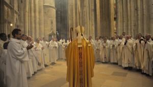 Accueil du presbyterium, réception du nouvel évêque cathédrale Saint-Etienne, Meaux