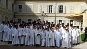 Pèlerinage des servants d'autel du diocèse d'Evry-Corbeil Essonne, en mars 2017.
