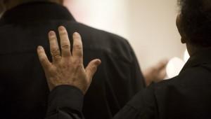 3 octobre 2009 : Notre Père par un choriste lors de la messe de la Création, Eg. Saint Gervais, Paris (75), France.  October 3, 2009 : Vespers and Mass, Ch. Saint Gervais, Paris, France.