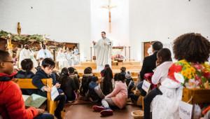 8 janvier 2017 : Homélie du P. Bruno L'HIRONDEL lors de la messe des Peuples, paroisse Notre Dame de Beauregard. La Celle Saint Cloud (78), France.