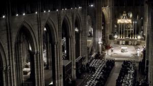 22 mars 2016 : Messe chrismale présidée par Mgr Pascal DELANNOY, en la basilique de Saint Denis. Saint Denis (93), France.
