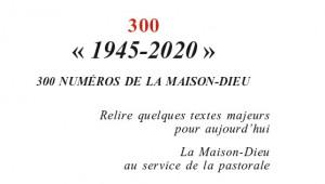 La Maison-Dieu 300, éd. Cerf.